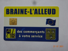 CARTE A PUCE CHIP CARD CARTE FIDÉLITÉ CARTE COMMERÇANTS A VOTRE SERVICE BRAINE-L'ALLEUD BELGIQUE - Gift And Loyalty Cards