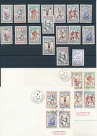 MAROC SPORT OLYMPIC GAMES OF ROME YVERT 413/420 SET + IMPERFORATED MNH + FDC - Ete 1960: Rome