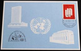 UNO GENF 1981 Mi-Nr. 105 Blaue Karte - Blue Card Mit Erinnerungsstempel AVIGNON - Storia Postale