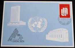 UNO GENF 1981 Mi-Nr. 106 Blaue Karte - Blue Card Mit Erinnerungsstempel GRENCHEN - Lettres & Documents