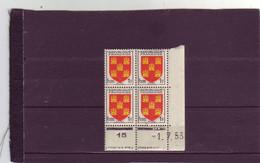 N°952 -1F Blason Du POITOU  - A De A+B - 1° Partie Du Du 29.6.53 Au 3.7.86 - 01.071953 - - 1950-1959