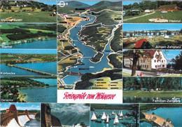 1 Map Of Germany * 1 Ansichtskarte Mit Der Landkarte - Feriengrüße Vom Möhnesee * - Landkarten