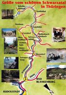 1 Map Of Germany * 1 Ansichtskarte Mit Der Landkarte - Grüße Vom Schönen Schwarzatal In Thüringen * - Landkarten
