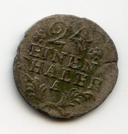 24 EINEN HALER. 1786.A. Billon. Allemagne. /156 - Sonstige