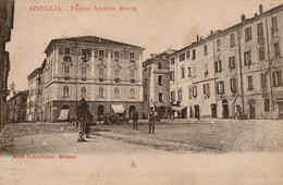 UN SALUTO DA ONEGLIA-PIAZZA ANDREA DORIA-1900-ORIGINALE100%-NESSUN DIFETTO- - Imperia