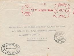 Nederlands Indië - 1948 - Frankeermachine / Meter 70 - De Javasche Bank - 7,5ct - Cover Local Use Batavia - Netherlands Indies