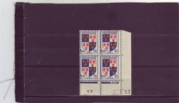 N° 951 - 50c PICARDIE - A De  A+B 1° Tirage Du 2.7.53 Au 9.7.53 - 2.07.1953 - 1° Jour De L'émission - - 1950-1959