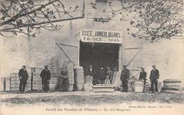 21-P-TPL.1954 : SOCIETE DES VANNIERS DE VILLAINES . UN DES MAGASINS - Autres Communes