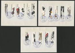 "CHINA / TIBET N° 2296 To 2303 + 2333 To 2340. Chi Pai Shih. Used ""LHASA 1981"" EXPEDITION OF QOMOLANGMA EVEREST - Cartas"