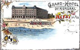Heist - Heyst - Grand Hôtel Du Kursaal (Litho Gekleurd  1901) - Heist