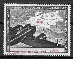 France/LVF YT N° 2 Belle Variété Légende Fortement Décalée Neuf *. B/TB. A Saisir! - Wars
