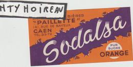 """Seb ; V . P : étiquette Bière :  """" Paillette """"  Caen , Sodalsa , Orange - Beer"""