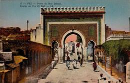FES - FEZ (Maroc) - Porte De Bou Jeloud - Entrée De Fez El Bali - Très Bon état  - 2 Scans - Fez
