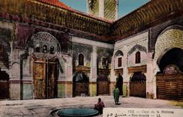 FES - FEZ (Maroc) - Cour De La Médersa Bou-Anannia - Très Bon état  - 2 Scans - Fez