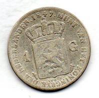 NETHERLAND, 1 Gulden, Silver, Year 1847, KM #66 - 1840-1849 : Willem II