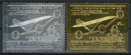 TIMBRES EN OR ET ARGENT(GOLD And SILVER ) POSTE AERIENNE N° 156 Et 157. 500 Fr Et 1500 Fr CONCORDE. Neuf ** (MNH). TB - Concorde