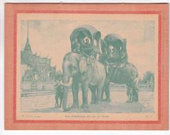 Rare Cahier Ecolier Didactique Ancien Roi Siam  Transport ELEPHANT Imp Charaire  Sceaux - S