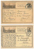 IP 34 A - 05x MORENI, Oil Wells, Different Colors And Cardboard - 2 Stationeries - Used - 1934 - Postwaardestukken