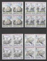 Greenland 1999 WWF / Owls 4v Bl Of 4 ** Mnh (53377) - Nuevos