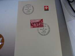 SUISSE  Journée Mondiale De La Croix Rouge   GENEVE 8/MAI/63 - Covers & Documents