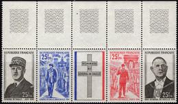 REUNION CFA Poste 403A ** MNH Bande Général Charles De Gaulle Libération Croix De Lorraine WWII Militaria - Nuovi