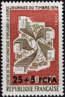 REUNION CFA Poste 422 ** MNH Journée Du Timbre 1974 Centre De Tri Orléans-La-Source - Unused Stamps