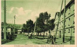 D38  VIRIEU SUR BOURBRE  Rue De La Gare Et Les Usines  ............ Carte Peu Courante - Virieu
