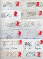 Lot De 50 Lettres Pour Flammes Sur Enveloppe Complète - Divers FRANCE - Possibilité De Réduire La Dimension De La Flamme - Annullamenti Meccanici (pubblicitari)