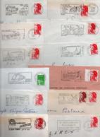 Lot De 50 Lettres Pour Flammes Sur Enveloppe Complète - Dép. 45 - Possibilité De Réduire La Dimension De La Flamme - Annullamenti Meccanici (pubblicitari)