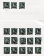 LEOPOLD III Zegels  2.50 Fr. Op 2.45 Fr. - Restant Uit Studie - Zie Scans - - 1936-1951 Poortman