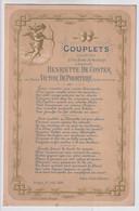 BRUGGE  19 AOUT 188'  - COUPLETS CHANTES A L'OCCASION DU MARIAGE DE MADEMOISELLE H.DE COSTER & V.DE POORTERE  31X23CM - Historical Documents