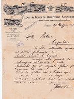 Genova Olii Stern-Sonneborn Carta Intestata - Italia