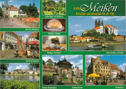 2 AK Germany / Sachsen * Sehenswürdigkeiten In Meißen Wie Albrechtsburg, Dom, Rathaus, Frauenkirche, Markt * - Meissen