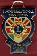 ** 81ème  CONVENTION  INTERNATIONAL  BIRMINGHAM  1998  +  LIONS  ELBEUF  -  AUTISME  76  -  LOTO  19 . 01 . 92 ** - Associations