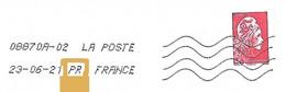 """NOUVEAU Toshiba Avec Deux Lettres Ajoutées """".PR"""" Après La Date Marianne L'engagée - Mechanical Postmarks (Other)"""