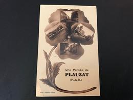 Une Pensée De PLAUZAT - 1937 Timbrée - Autres Communes