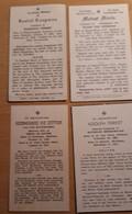 Doodsprentjes Van 10 Belgen En 1 Nederlander OVERLEDEN IN DE USA, Lichtervelde, Bredene, Beernem, Roeselare, Tielt - Devotion Images