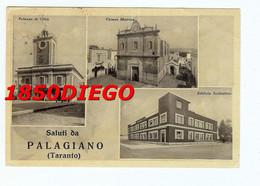 SALUTI DA PALAGIANO - MULTIVEDUTE F/GRANDE VIAGGIATA 1956 - Taranto