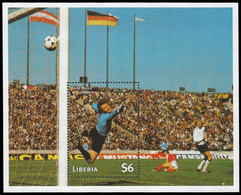 Soccer Football Liberia Bl 168 Sepp Maier 1998 World Cup France MNH ** - 1998 – France