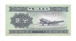 *china 2 Fen 1953  Km 861b - Chine