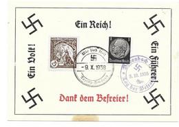 GEDENKBLATT  DEUTSCHES REICH -- BÖHMEN & MÄHREN 1938  SST  TEPLITZ U. BODENBACH - Bezetting 1938-45