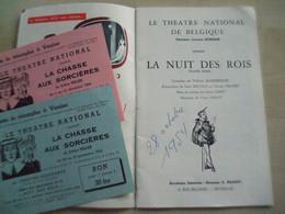 Ancien Programme THEATRE NATIONAL DE BELGIQUE La Nuit Des Rois - Programas