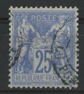 N° 68  25 Ct Outremer Type I Cote 85 € Oblitéré. TB - 1876-1878 Sage (Type I)