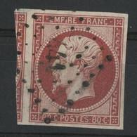 """N° 17 B 80 Ct Rose Cote 60 € Avec Filet Voisin, Obl. Pc """"441"""" (voir Description). - 1853-1860 Napoléon III"""