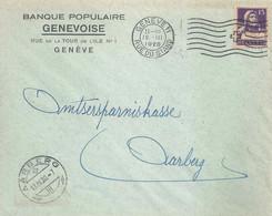 """Motiv Brief  """"Banque Populaire Genèveoise, Genève""""          1920 - Covers & Documents"""