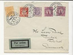 D10 SWEDEN Jun 1929 FIRST NIGHT FLIGHT To DENMARK (Backstamp) - Cartas