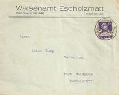 "Motiv Brief  ""Waisenamt Escholzmatt""            1931 - Covers & Documents"