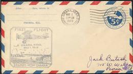 USA - OMAHA ==> ST LOUIS / 1929 ENVELOPPE PREMIER VOL - FFC (ref 8233g) - Storia Postale
