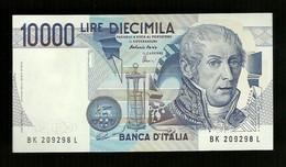 Banconota Italia - Lire 10.000 Alessandro Volta In F.D.C. - 10000 Lire