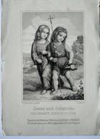 Image Religieuse Gravure XIX ème De Pickel - Jesus Une Johannes BE - Andachtsbilder
